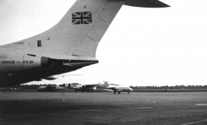 Tail of BUA VC10 with HS125